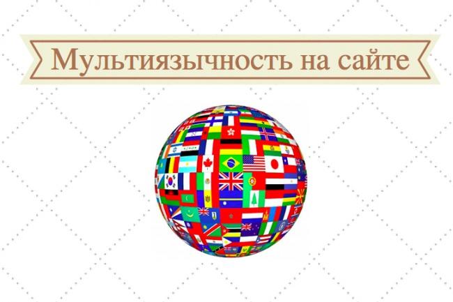 Сделаю мультиязычность на сайтеДоработка сайтов<br>Настрою мультиязычность на вашем сайте! Абсолютно любой язык мира! Это поможет Вам увеличить международный трафик, получить доступ к глобальной аудитории и исследовать новые рынки. Поисковые системы будут индексировать переведенные страницы вашего сайта. Люди получат возможность поиска и нахождения товара, который вы продаете, на своем родном языке.<br>