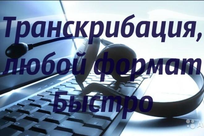 Транскрибация текстов в любом формате. Быстро 1 - kwork.ru