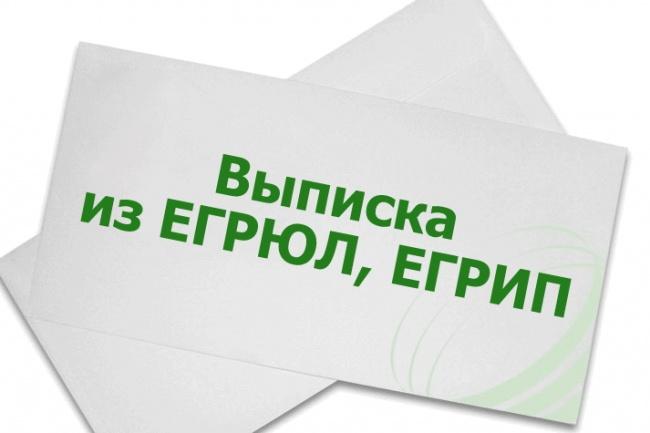 Электронная выписка из егрюл и егрип 1 - kwork.ru