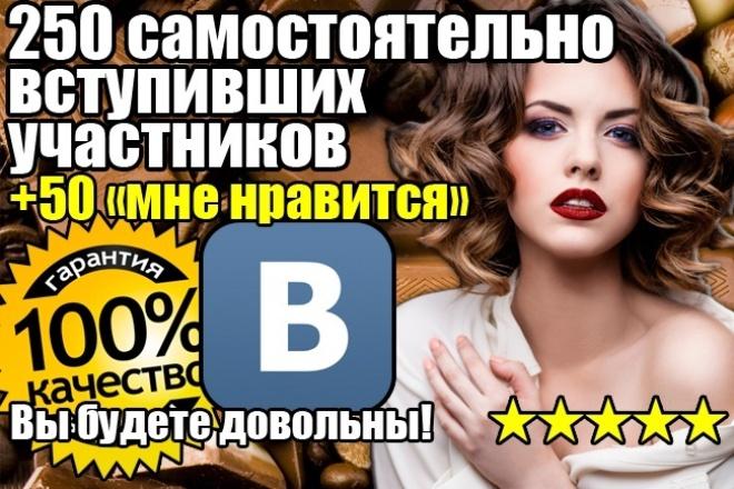 250 чел. в группу без собачек и списаний 1 - kwork.ru