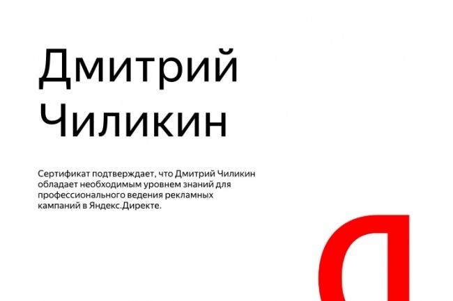 Настройка Яндекс Директ. Сертифицированный специалист Яндекс Директ 1 - kwork.ru