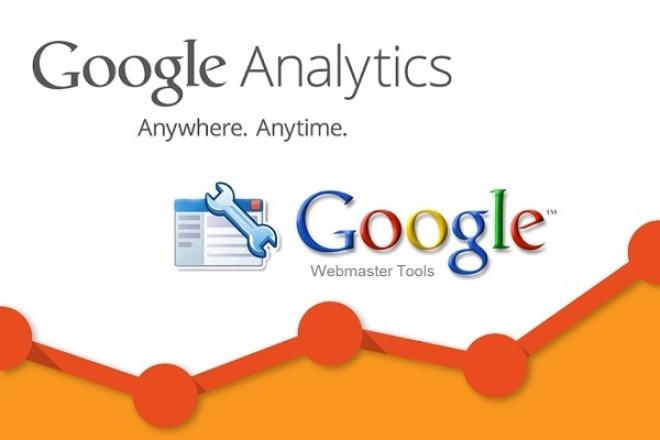 Размещу код счетчиков и настрою Google Webmaster и Google Analytics 1 - kwork.ru