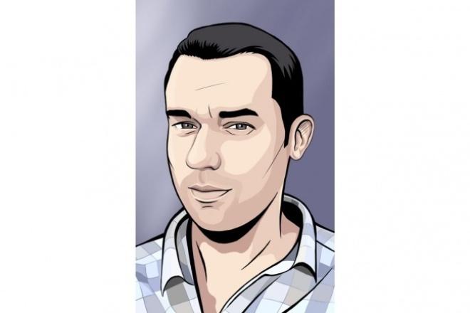 нарисую портрет по фото в данном стиле 1 - kwork.ru