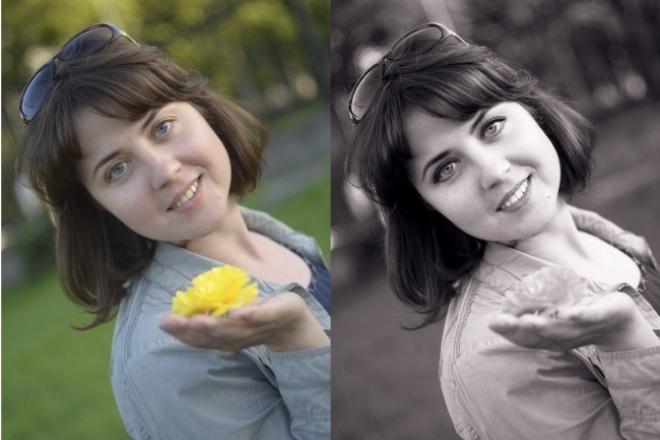 Ретушь фото, ретушь портретаОбработка изображений<br>Отретуширую Ваш портрет, уберу недостатки с кожи, исправлю дефекты, отбелю зубы, выполню цветокоррекцию. Обычную фотографию превращу в необыкновенный портрет. Откорректирую яркость, резкость и насыщенность фотографий, сделаю их красивыми и сочными.<br>