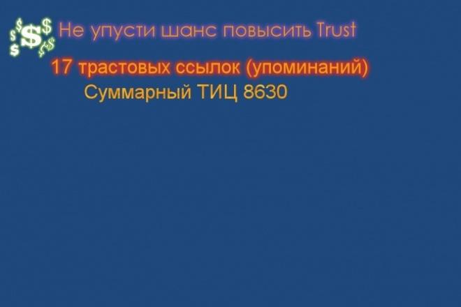поставлю 17 вечных ссылок с трастовых профилей 1 - kwork.ru
