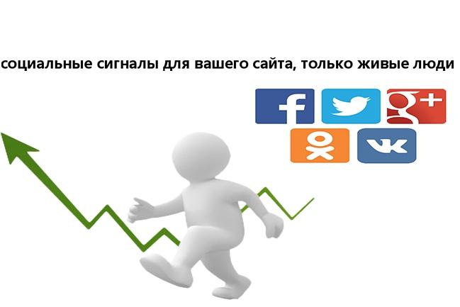 200 соц сигналов с вашего сайта. только живые люди 1 - kwork.ru