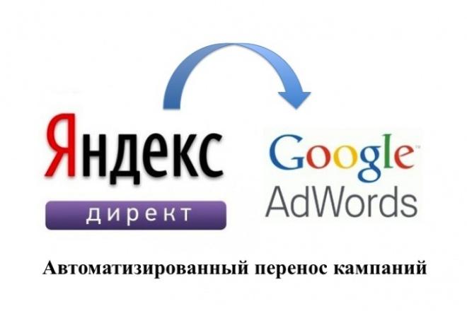 Перенесу рекламную кампанию из Yandex.Direct в Google.Adwords 1 - kwork.ru