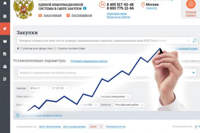 Соберу информацию о прошедших закупках 1 - kwork.ru