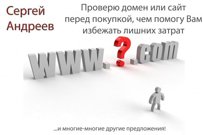 Проверю домен/сайт/контент перед покупкой в Телдери 1 - kwork.ru