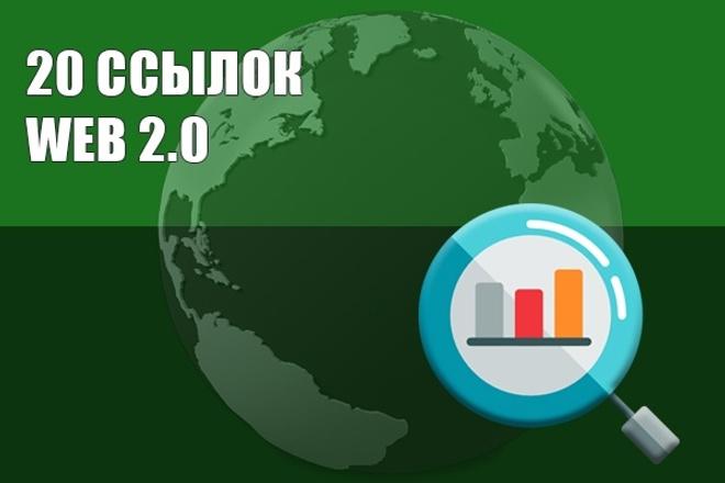 WEB 2. 0 Ссылки с трастовых сайтов 50 ссылок 1 - kwork.ru