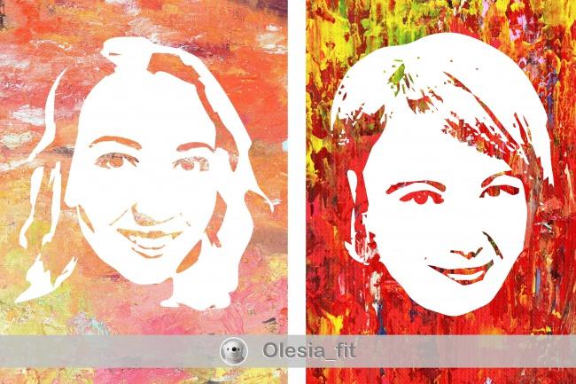 подготовлю трафарет для флип-флоп портрета 3 - kwork.ru
