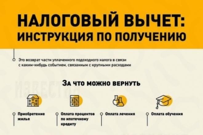 Сделаю декларацию по возврату налога на доходы физических лиц 1 - kwork.ru