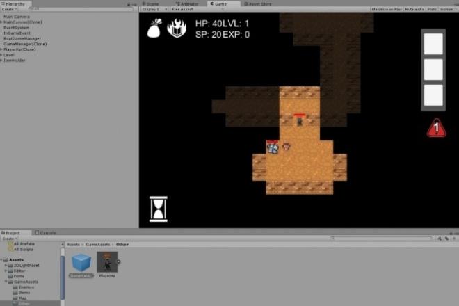 Продаю набор для создания rogulike игры на Unity 5Другое<br>Набор включает в себя: 1. Система генерации уровней 2. Встроенную систему управления мышью/ нажатиями 3. Шаблон мобов 4. Систему инвентаря 5. Систему спеллов 6. Туман войны 7. Переход между уровнями 8. Игровой интерфейс 9. Систему меню<br>