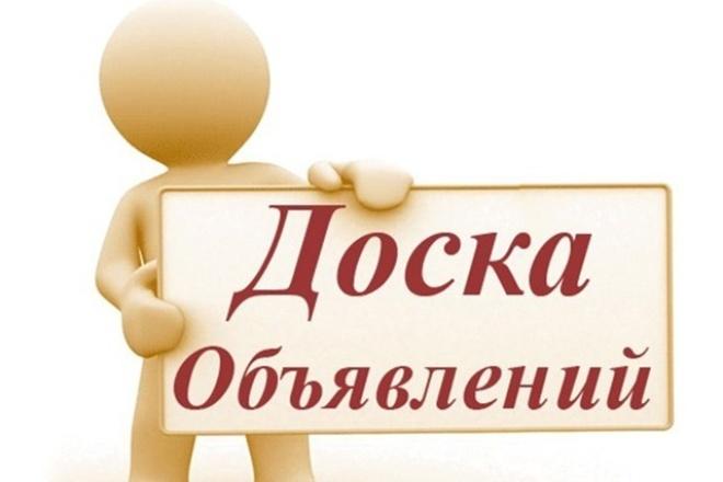 наполняю доски объявлений 1 - kwork.ru
