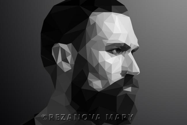 Сделаю Low Poly портрет по фотографии 1 - kwork.ru