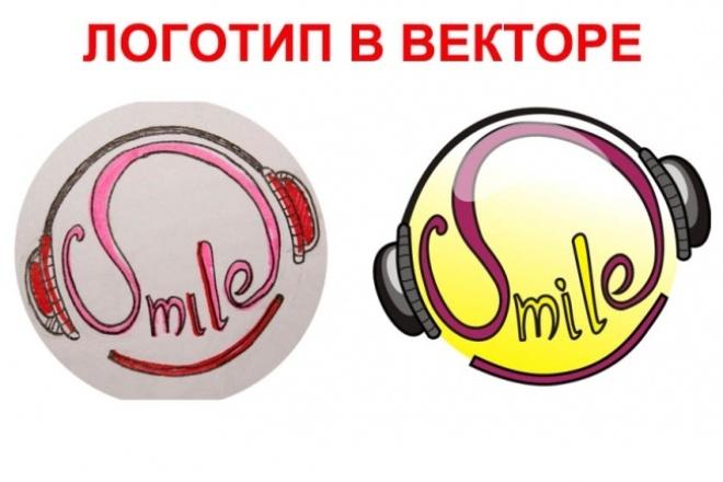 Отрисую логотип из растра в вектор 1 - kwork.ru