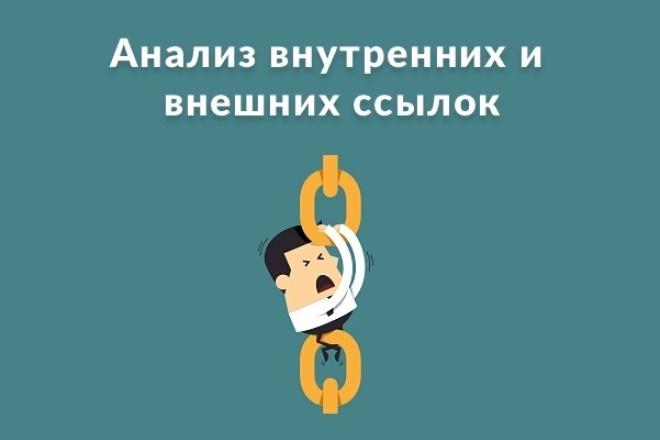 Анализ внешних и внутренних ссылок сайта 1 - kwork.ru