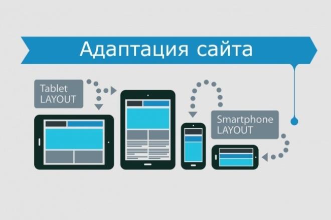 Адаптация сайта под мобильные устройстваВерстка<br>Выполню адаптацию сайта по макету (Если он есть), по вашим пожеланиям, или сделаю адаптацию сайта на свое усмотрение! Что вы получите? - Вы получите полностью адаптивный сайт на мобильных устройствах - Появление у сайта в мобильной выдаче Google отметки «Для мобильных» Почему стоит работать со мной ? - Более 5 лет опыта работы - Если не уверен в результате за работу не берусь. - Работу выполняю всегда в срок. - Всегда на связи.<br>