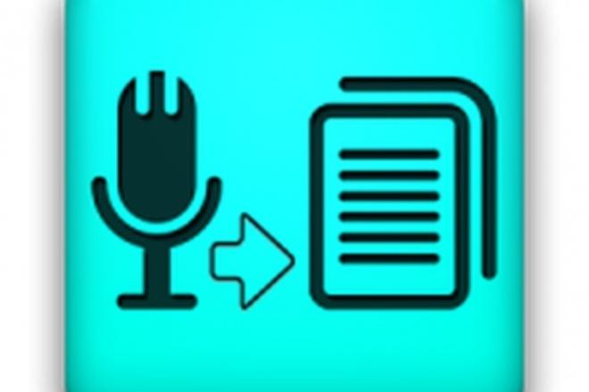Транскрибацию аудио/видео записей 1 - kwork.ru