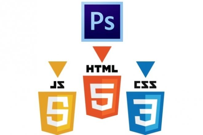 Сверстаю простой Landing Page с PSD 1 - kwork.ru
