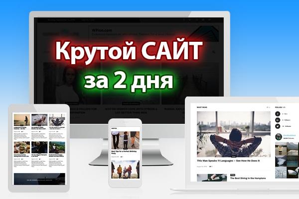 Сделаю крутой сайт на Wordpress, под ключ 1 - kwork.ru