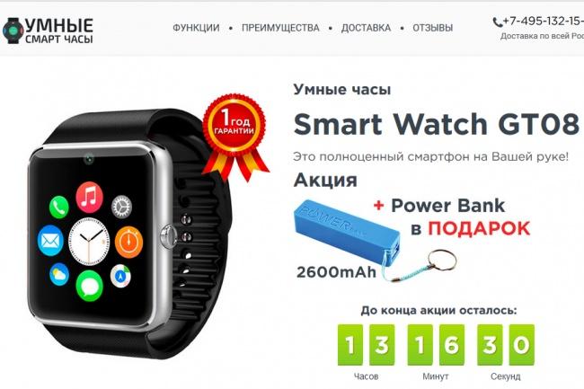 Скопировать Landing page, одностраничный сайт 1 - kwork.ru