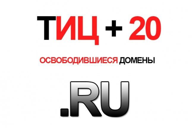 Найду для Вас 10 свободных доменов с ТИЦ 20 в зоне . RU 1 - kwork.ru