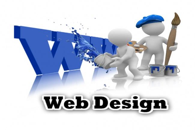 Сделаю дизайн главной страницы сайта 1 - kwork.ru