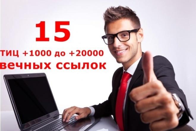 Проставлю вечные ссылки С топовых ресурсов С ТИЦ ОТ +1000 до +20 000 1 - kwork.ru