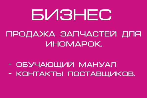Бизнес кейс по заработку на продаже автозапчастей для иномарок 1 - kwork.ru