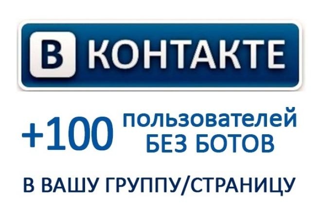 100 живых участников в группу ВК за 1 день 1 - kwork.ru