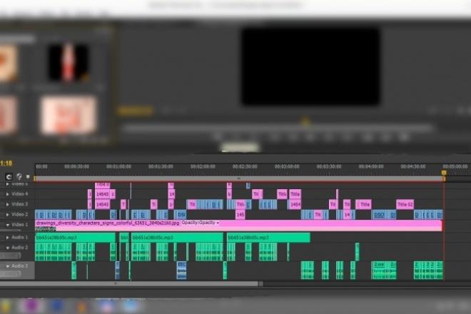 Качественно смонтирую или обработаю видеороликМонтаж и обработка видео<br>Качественно смонтирую Ваш ролик, работаю в программах Фотошоп, Сони Вегас, Премьер Про. Что могу сделать с вашим роликом: 1. Склейка, обрезка. 2. Рекламный ролик 3. Интро для вашего канала 4. Веселый или красивый монтаж ( С музыкой, различными картинками и т.д.) 5. Слайд-шоу 6. Видео-инструкция Итоговый видеоролик рендерю в 1080p. 1 кворк = видео 5-6 минут 2 кворка = видео 7-10 минут 3 кворка = видео 10-20 минут Сделаю ролик в течение 2-х дней или же раньше, зависит от сложности работы. Прежде чем сделать заказ, пожалуйста свяжитесь со мной, для уточнения ваших пожеланий. Примеры моих работ: http://www.youtube.com/watch?v=15uYstI9bYM http://www.youtube.com/watch?v=dXrp_X7_CJA&amp;amp;feature=youtu.be http://www.youtube.com/watch?v=TuGJwbyfv7A&amp;amp;feature=youtu.be http://www.youtube.com/watch?v=TN0ADejCjPc http://www.youtube.com/watch?v=Zav2l4R2fqM<br>