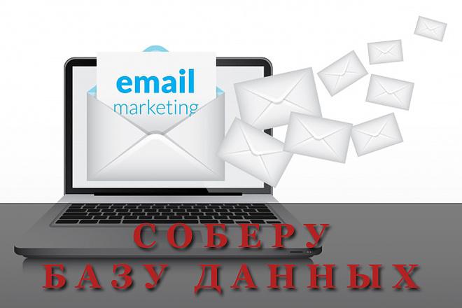 Соберу базу e-mail адресов для вашего бизнеса 1 - kwork.ru