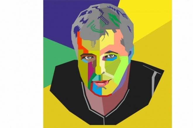 Векторный портрет из фотографииОтрисовка в векторе<br>Авторский векторный портрет на основе вашей фотографии. От Вас - самая выразительная фотография и пожелания.<br>