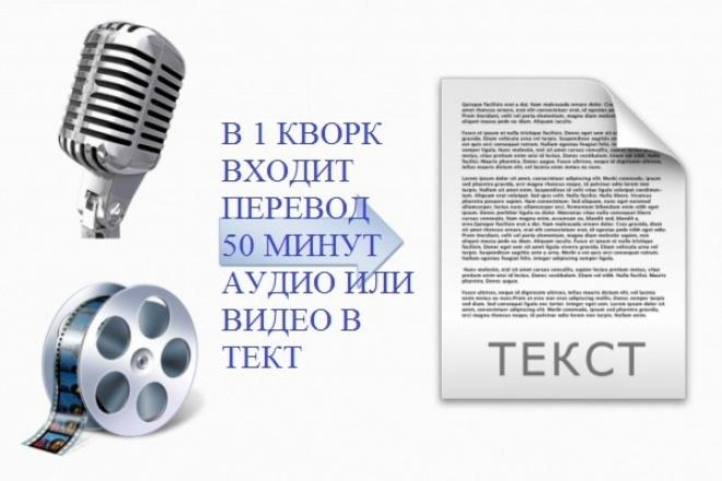 Транскрибация, переведу аудио и видео в текст 1 - kwork.ru