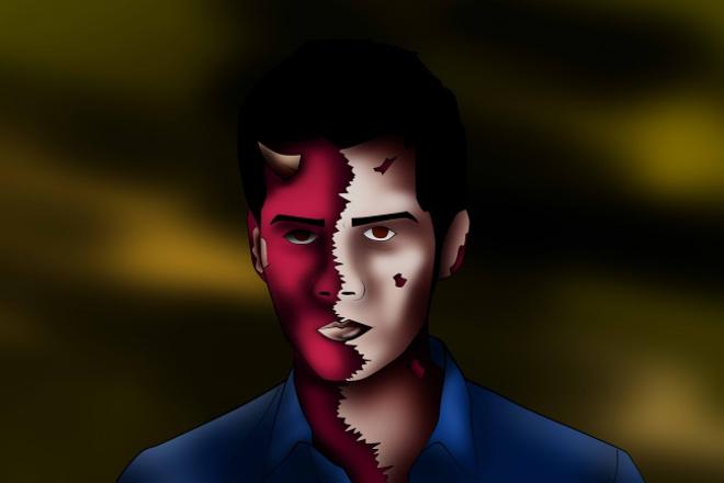 Нарисую портрет в стиле DEMON ART 1 - kwork.ru
