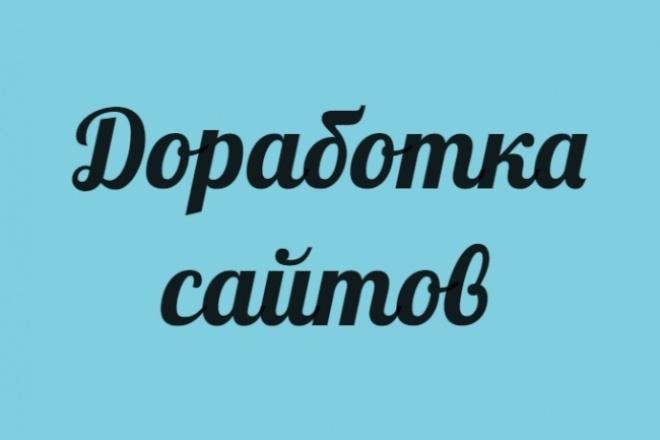 Доработка сайтов 1 - kwork.ru