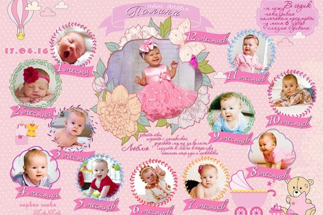 Сделаю постер или метрикуГрафический дизайн<br>Разработаю дизайн Постера или Метрики для вас и ваших близких. Постер может быть в виде поздравительной открытки маме, любимой, подруге, учителю или начальнику. Постеры подразделяются на: - Поздравительные (С юбилеем, днем рождения); - Романтические (С годовщиной свадьбы, для любимого человека); - Шуточные ; - Повседневные (Постер для кухни,Постер цели-достижения). МЕТРИКА - несет в себе данные о запоминающемся событии, празднике, оформленная в праздничном или повседневном стиле. Метрики бывают : - Детские (С новорожденными данными, Мой первый годики т.д) - Свадебные. За 500 рублей вы получите: дизайн одного Постера с фото (до 20 фото) любого размера дизайн 2х Метрик<br>