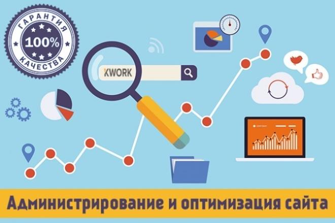 Администрирование и оптимизация сайта 1 - kwork.ru