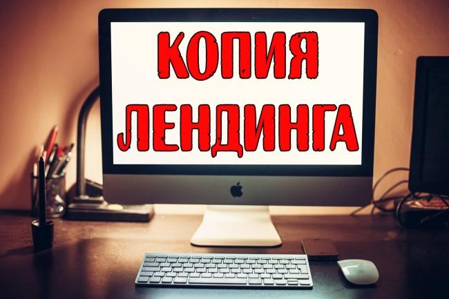 Скопирую для вас Лэндинг 1 - kwork.ru
