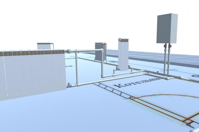 Конструктор системы отопления из полипропиленаПрограммы для ПК<br>О программе: Конструктор позволяет спроектировать 3D схему отопления из полипропилена. Подсчитать общее количество деталей и вывести отдельным списком. Это удобный инструмент для тех, кто хочет наглядно видеть, как будет выглядеть будущая система и знать какие детали для нее понадобятся. Возможности программы: Проектирование реалистичных 3D схем отопления Быстрое редактирование уже сделанной схемы Удобный и понятный интерфейс Удобное перемещение по плану Сохранение изображений схем отопления Сохранение в текстовый файл списка деталей Системные требования: Операционная система: от Windows 7 и выше Процессор: от 2 ядер Intel® или AMD® Память: от 2GB Видеокарта: GeForce или ATI Radeon Программа запускается даже на ноутбуках 10 летний давности, но работает с тормозами. Оптимальный вариант: ПК или ноутбук средний мощности 5 летний давности.<br>