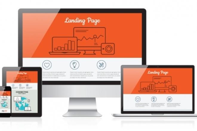 Разработка уникального дизайна Landing Page 1 - kwork.ru