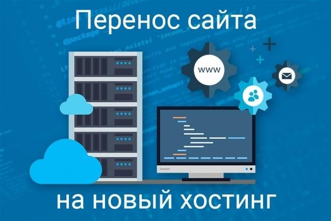 Перенос сайта на новый хостинг 1 - kwork.ru