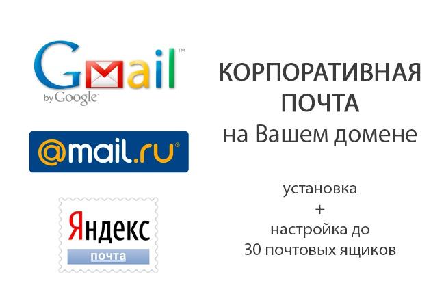 Создам и настрою корпоративную почту на Вашем домене 1 - kwork.ru