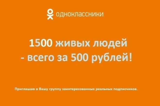 Одноклассники. 1500 живых вступивших в вашу группу Одноклассники 1 - kwork.ru