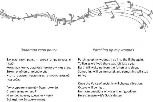 Выполню стихотворный перевод песен, стиховПереводы<br>Переведу песню, стих, поэму с английского/на английский с сохранением рифмы, ритма и смысла. В среднем в песня с 3-мя куплетами и припевом содержит около 1000 знаков.<br>