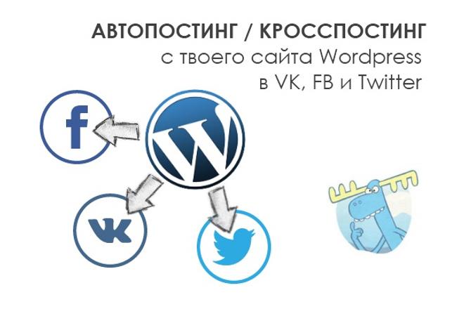 Автопостинг с сайта WordPress в социальные сети: VK, Facebook, Twitter 1 - kwork.ru