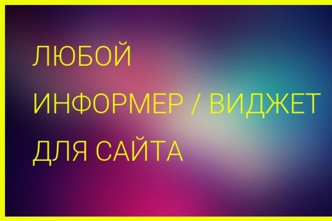 сделаю любой информер для сайта 1 - kwork.ru