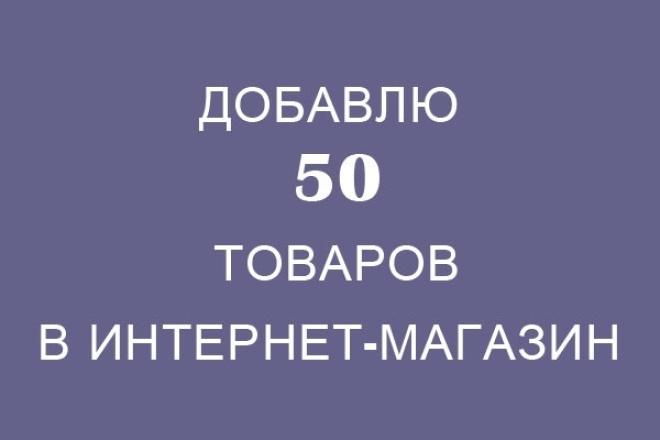 Наполню интернет-магазин товарами 1 - kwork.ru