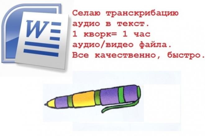 Извлеку текст из аудио/видео файла 1 - kwork.ru